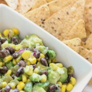 Fresh mix of avocado, black beans, and corn - as healthy as it is tasty!