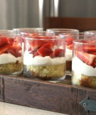 Strawberry Mini Trifles