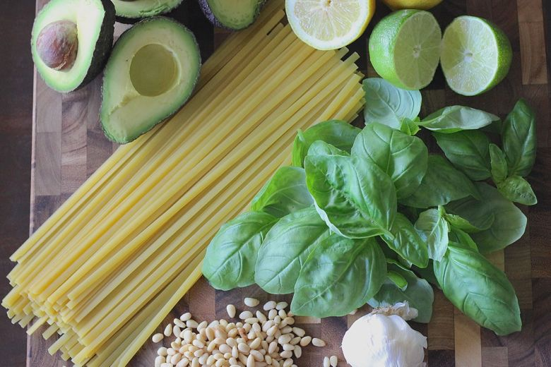 Avocado Pesto Linguine Ingredients