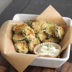 Baked Zucchini and Skinny Buttermilk Ranch Dip