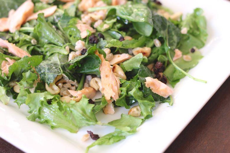 Kale and Salmon Salad