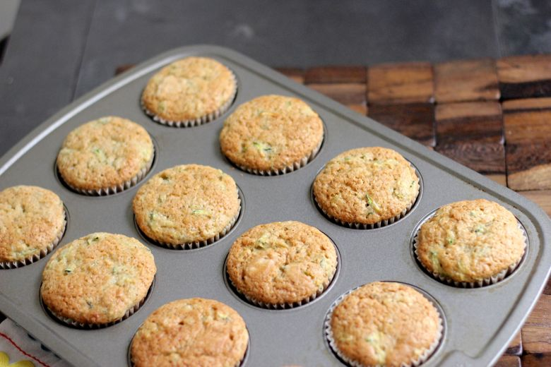 Zucchini Almond Cupcakes Baked