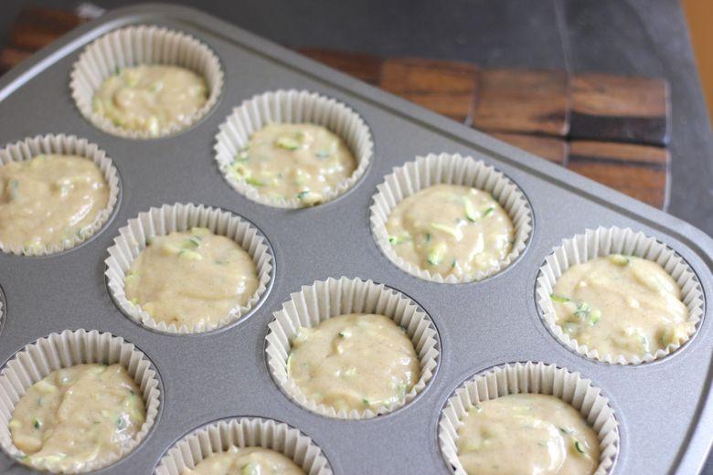 Zucchini Almond Cupcake Batter