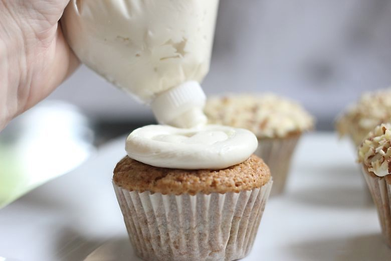Zucchini Almond Cupcakes Frosting