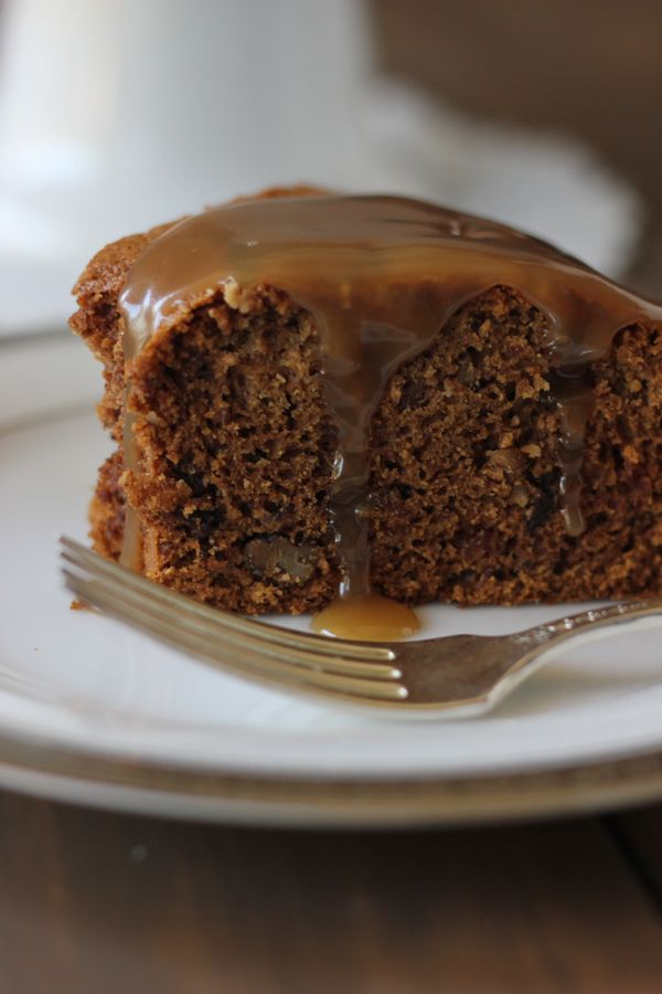 Vintage Applesauce Cake With Butterscotch Sauce
