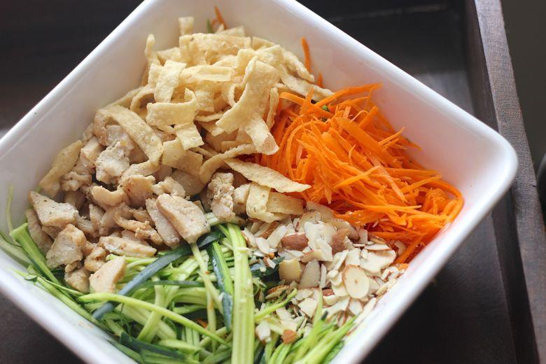 Asian Chicken Veggie Wraps