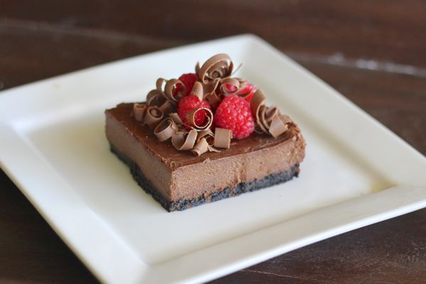 Chocolate Cheesecake With Raspberries