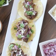Steak Tacos With Cilantro Lime Cream