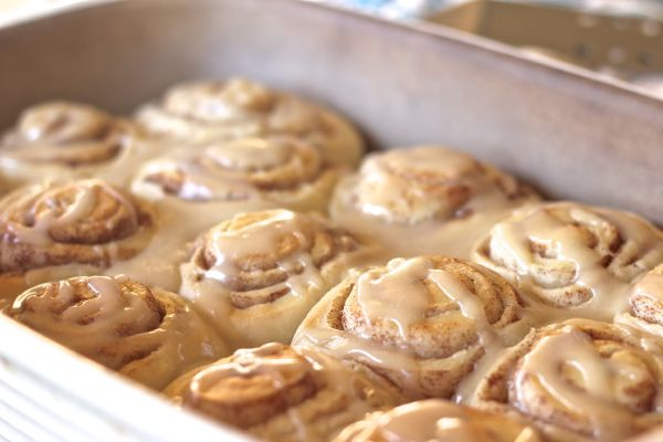 Maple Glazed Cinnamon Rolls - Lovely Little Kitchen