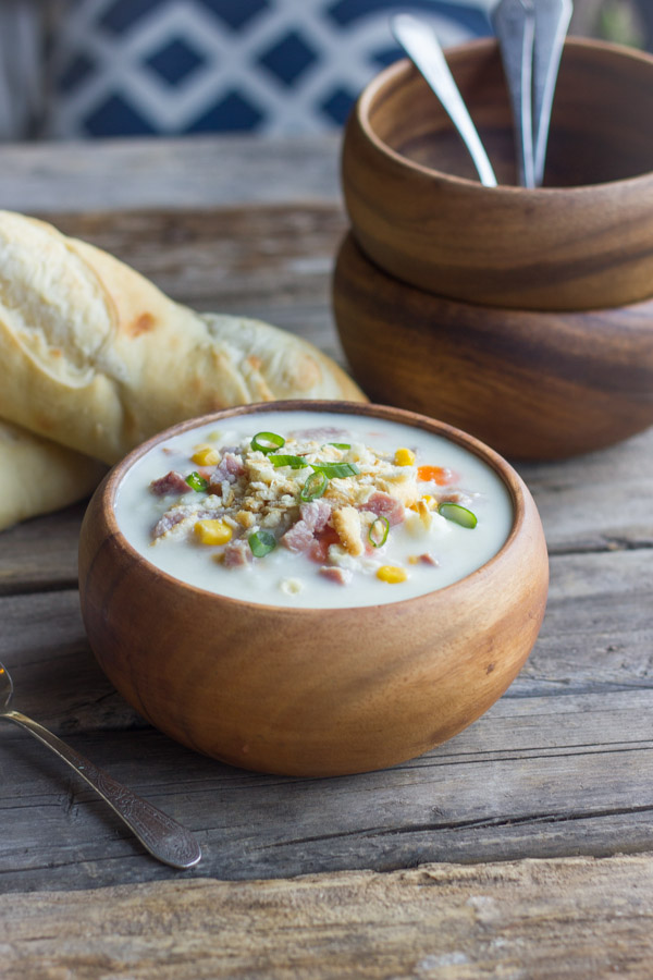 This Creamy Potato Soup With Ham is so perfect for a chilly winter day.
