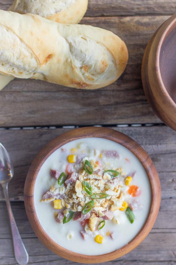creamy potato soup with ham lovely little kitchen