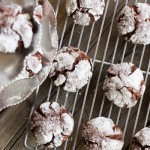 Peppermint Crunch Chocolate Crinkle Cookies
