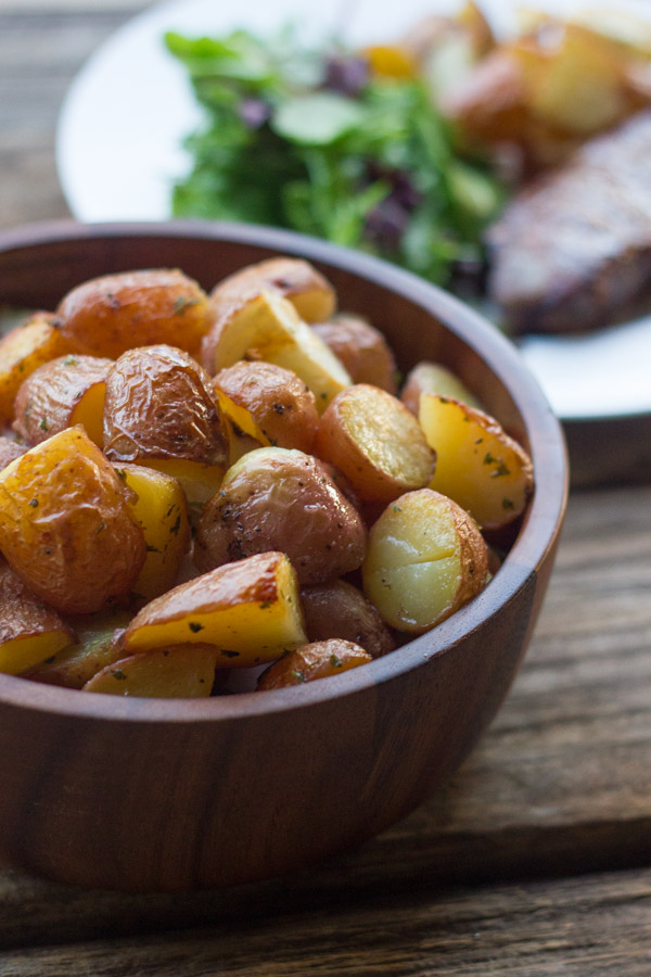 Roasted Red Potatoes - crispy and buttery on the outside, and creamy on the inside