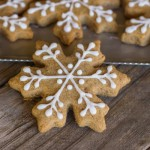 Iced Graham Cracker Snowflakes
