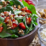 Strawberry and Spinach Salad with Almond Vinaigrette -2