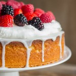 Easy Triple Berry Almond Poke Cake