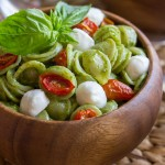 Orecchiette With Pesto and Oven Roasted Tomatoes