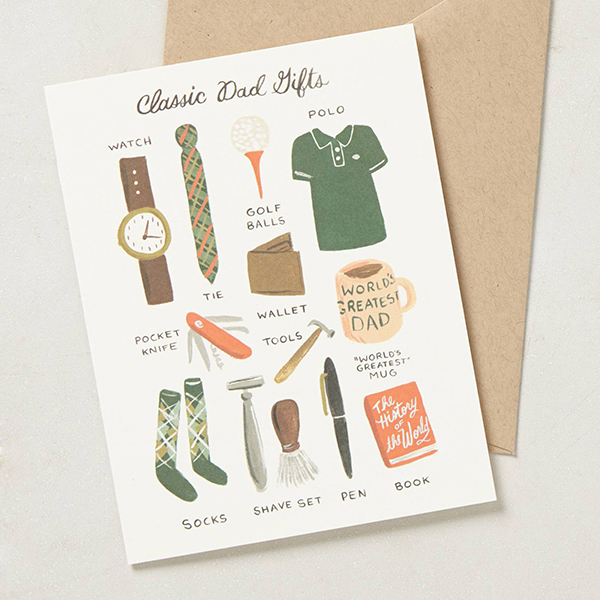 Anthropologie Father's Day Card