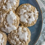 Maple Iced Oatmeal Cookies