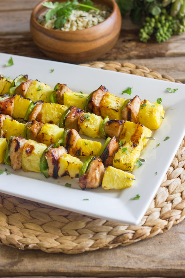 Grilled Teriyaki Chicken and Pineapple Kebabs - Lovely ...