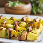 Grilled Teriyaki Chicken and Pineapple Kebabs