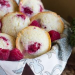 Healthier Raspberry Almond Muffins