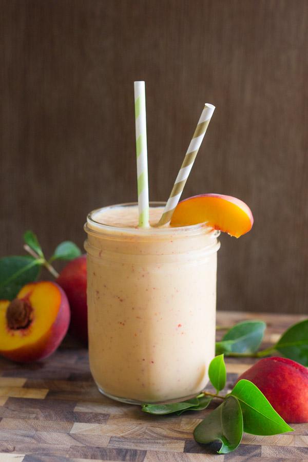 Skinny Peach Cream Slush - a peach lover's dream & only 3 ingredients!
