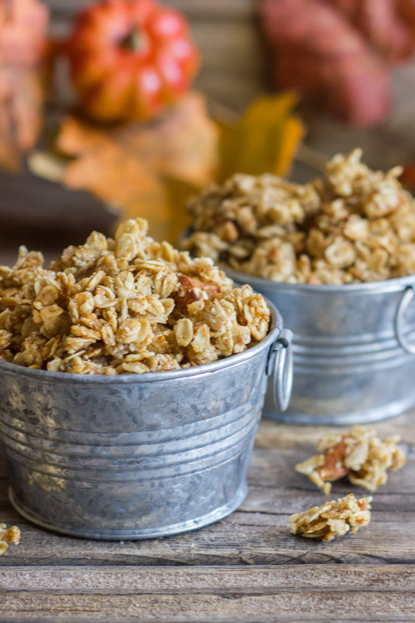 Pumpkin Pie Spice Coconut Oil Granola - you'll love how sticky and ...