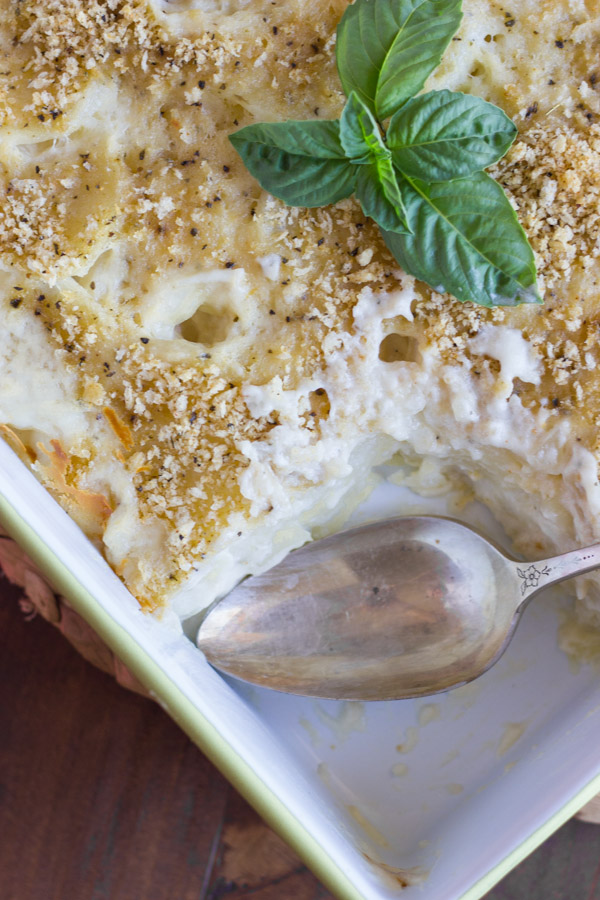 Roasted Garlic Scalloped Potatoes - how to make the best scalloped potatoes, and roast your own garlic!