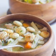 Homemade Chicken Noodle Soup - How to make your own homemade chicken noodle soup using a rotisserie chicken from the grocery store deli.