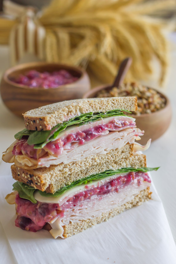 Turkey And Cranberry Sandwich - the cranberry pecan mayonnaise will make your Thanksgiving leftovers more than just leftovers!