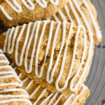 Iced Gingerbread Oat Scones