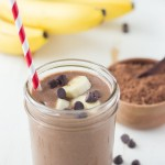 Chocolate Banana Smoothie Made With Silk Cashewmilk
