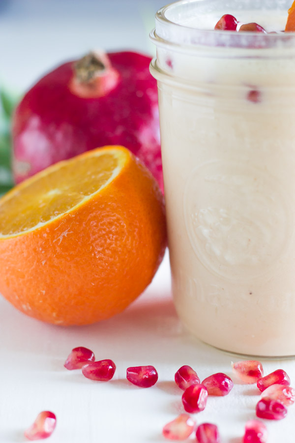 Pomegranate Citrus Smoothie - Creamy, tangy and sweet and packed with Vitamin C and antioxidants!