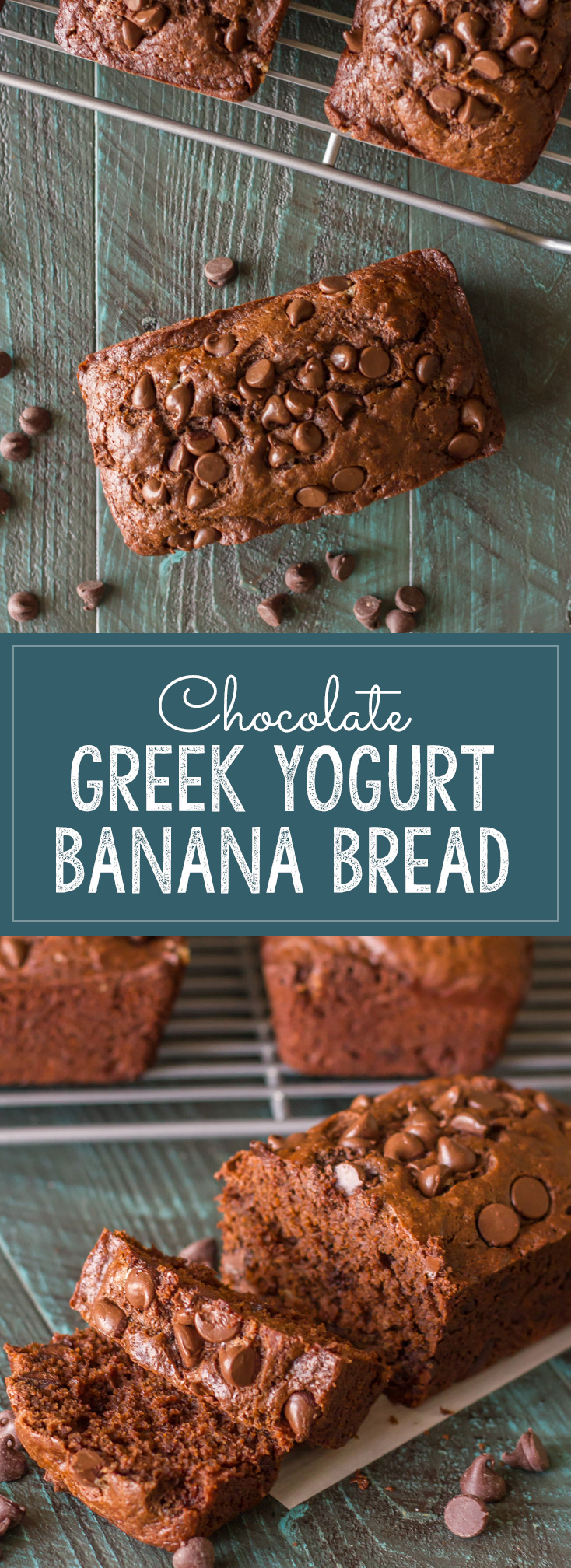 Chocolate Chocolate Chip Greek Yogurt Banana Bread - So amazing what a ...