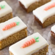 Carrot Cake Bars With Cream Cheese Frosting - moist, sweet and perfectly spiced!