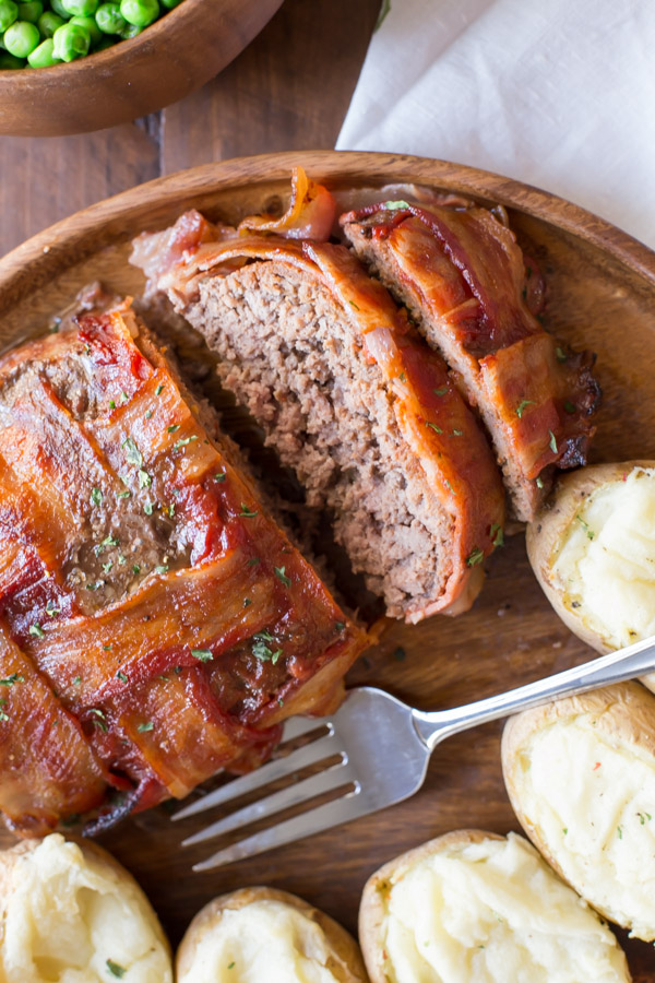 Bacon Wrapped Meatloaf - comfort food at it's best, kicked up a notch with a Smokehouse Maple seasoning!