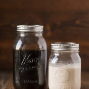 Cold Brew Iced Coffee and Homemade Vanilla Creamer - Easy to make and so creamy, smooth, and refreshing!