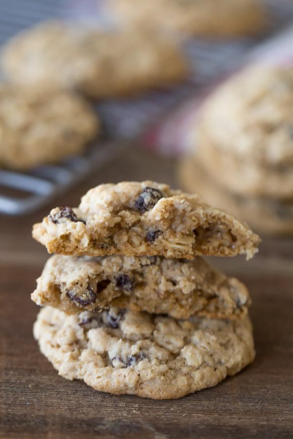 Pumpkin Pie Spice Oatmeal Raisin Cookies - Lovely Little Kitchen