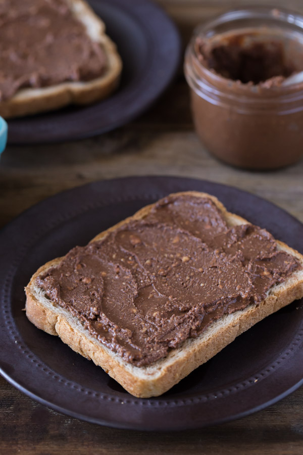 Hazelnut Raspberry Toast - Homemade chocolate hazelnut spread ...