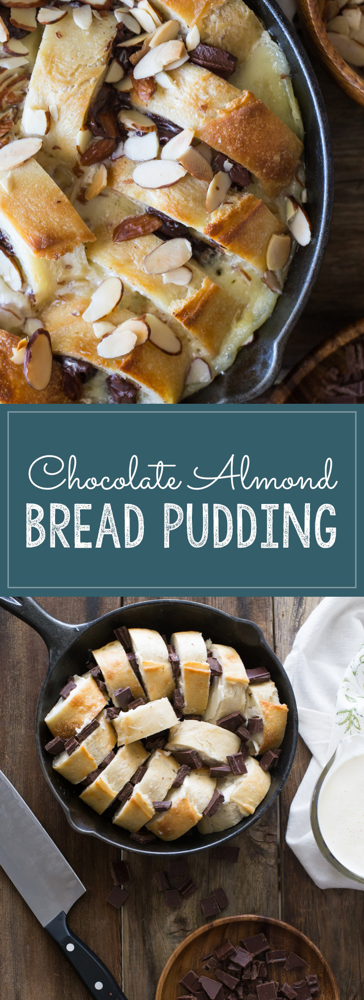 Chocolate Almond Bread Pudding