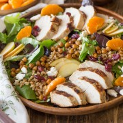 Turkey Farro Salad With Candied Chickpeas-1