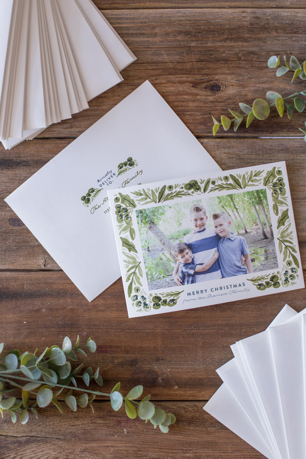 Minted Christmas Card