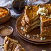 Pumpkin Pie Spiced Stuffed French Toast-4