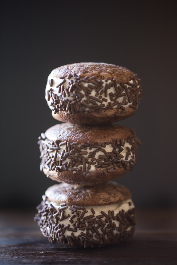 Soft and Chewy Brownie Cookies - These taste just like my favorite brownies, and they make awesome ice cream sandwiches!
