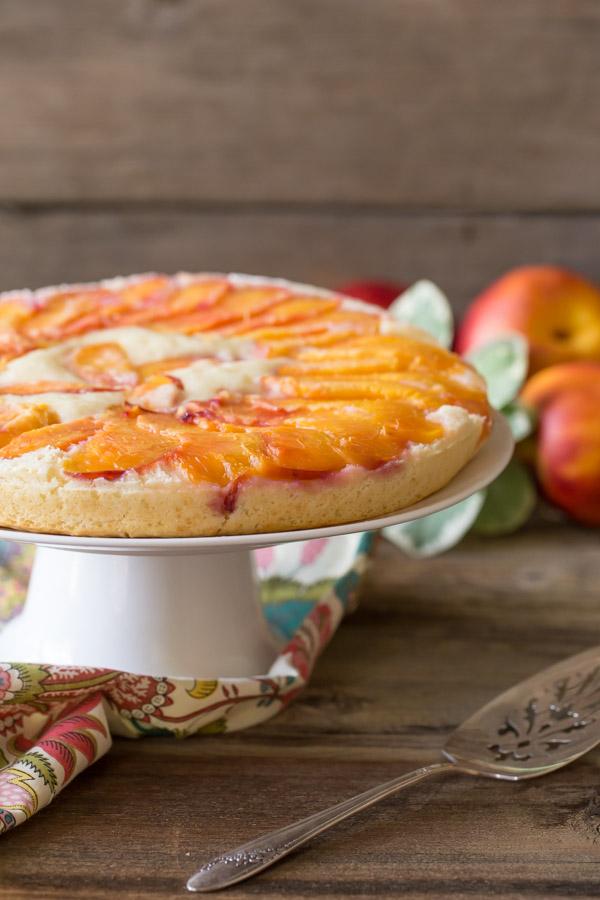 Nectarine Upside Down Cake