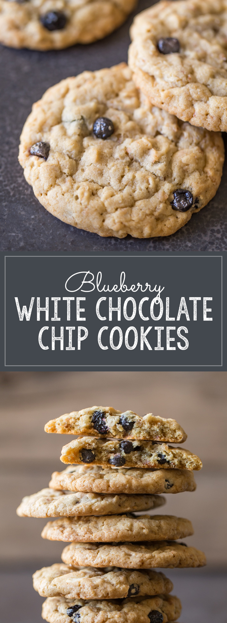 Blueberry White Chocolate Chip Cookies - A delightfully chewy cookie ...