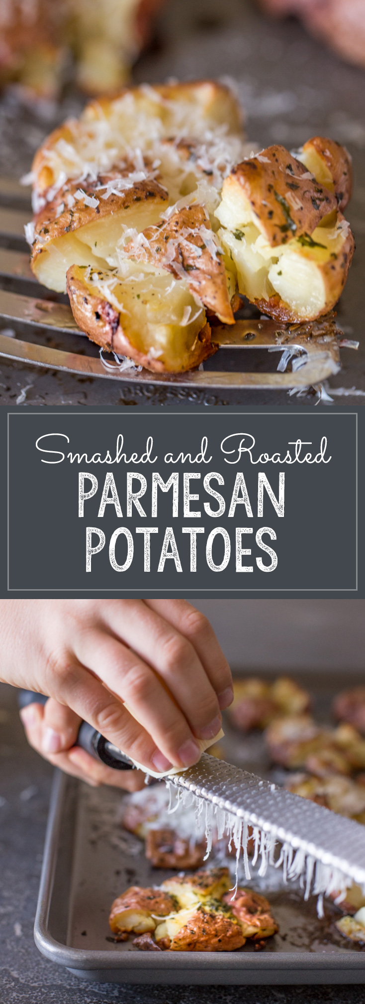 Give boring potatoes a facelift by smashing, adding butter and herbs, and roasting until they are perfectly crisp!