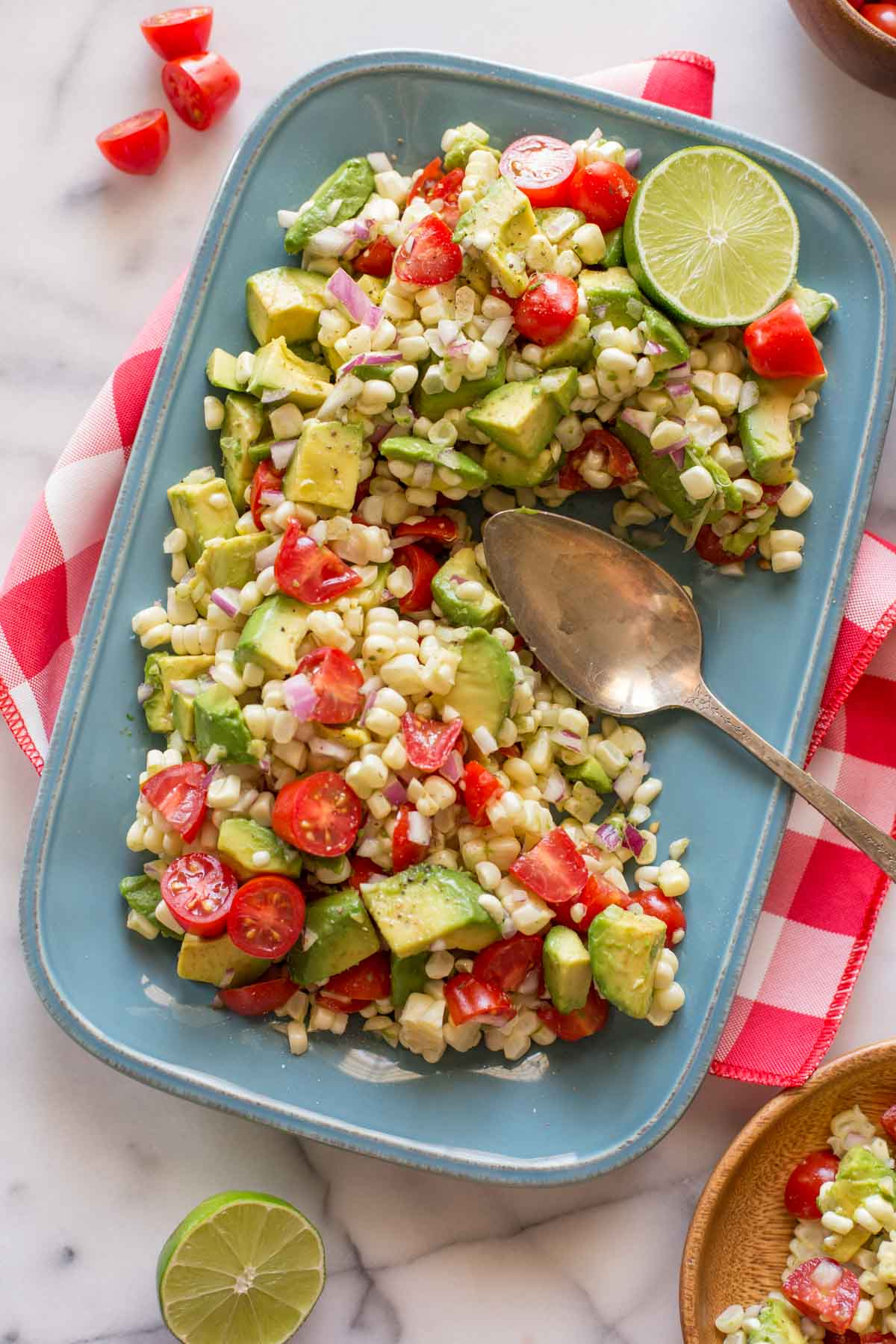 corn tomato and avocado salad lovely little kitchen