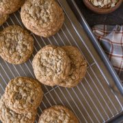 Bakery Style Oatmeal Raisin Cookies-3
